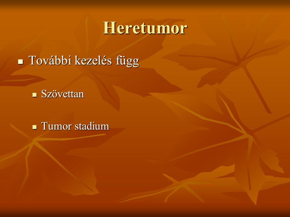 Heretumor További kezelés függ Szövettan Tumor stadium