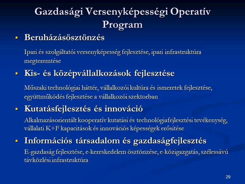 Gazdasági Versenyképességi Operatív Program