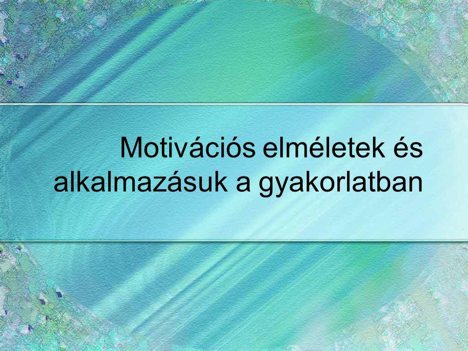 Motivációs elméletek és alkalmazásuk a gyakorlatban