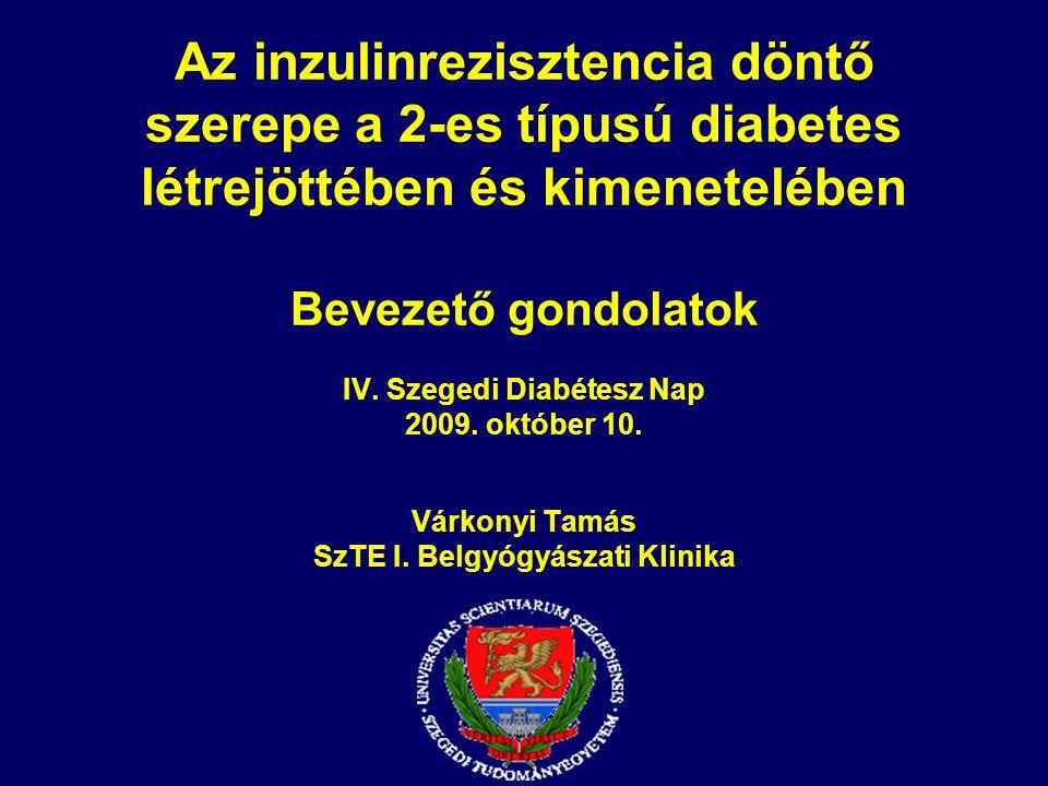 Az inzulinrezisztencia döntő szerepe a 2-es típusú diabetes létrejöttében és kimenetelében Bevezető gondolatok IV.
