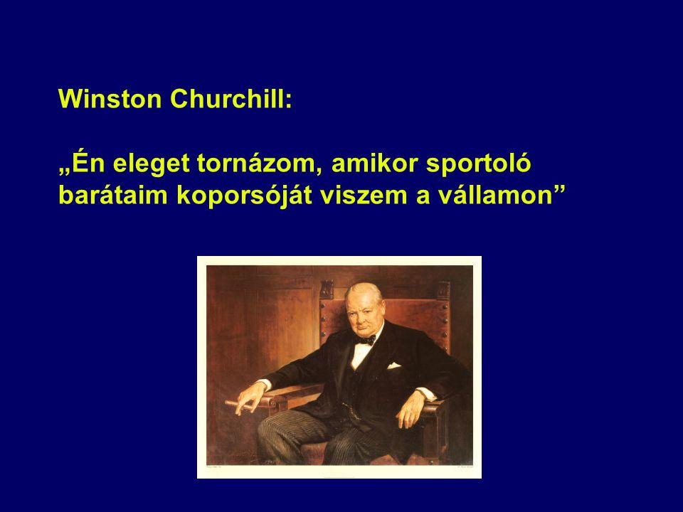 """Winston Churchill: """"Én eleget tornázom, amikor sportoló barátaim koporsóját viszem a vállamon"""