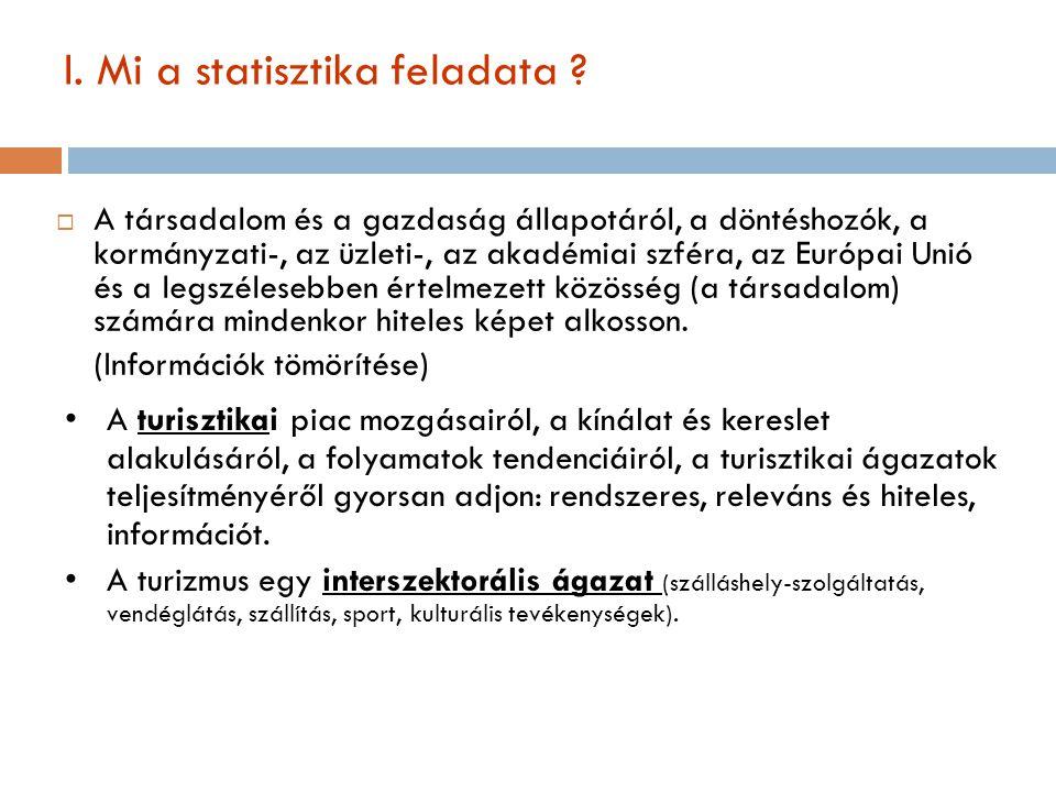 I. Mi a statisztika feladata