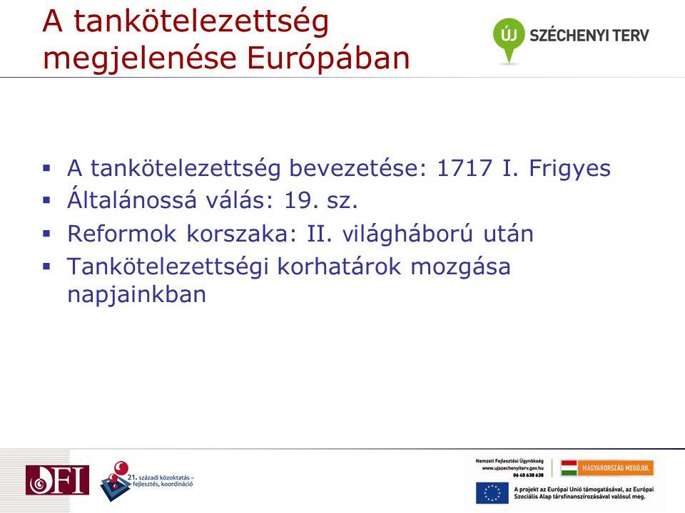 A tankötelezettség megjelenése Európában
