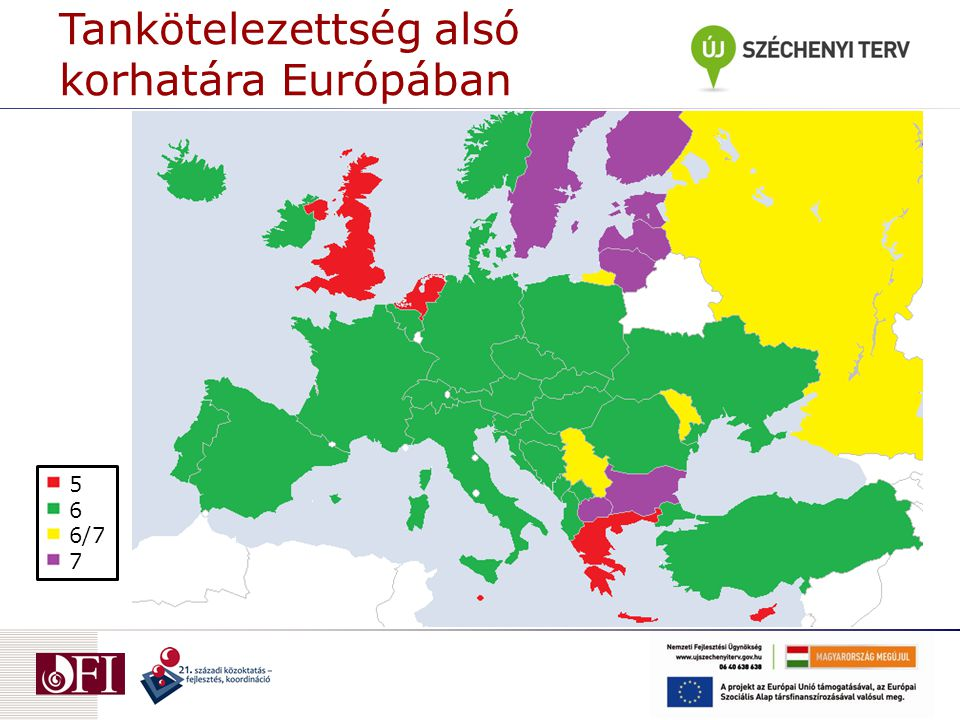 Tankötelezettség alsó korhatára Európában