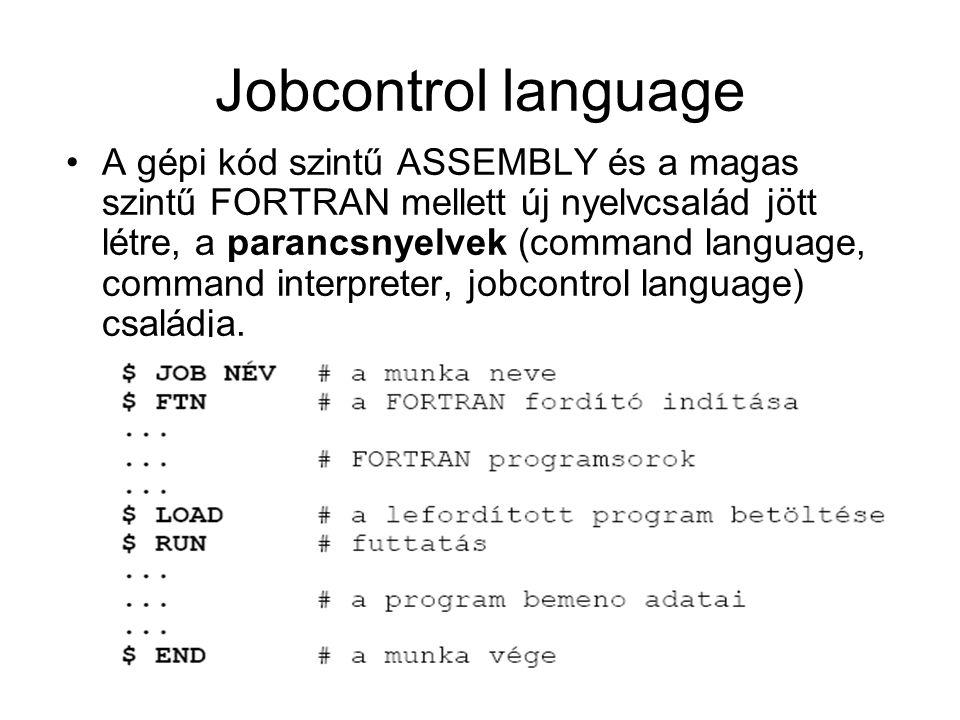 Jobcontrol language