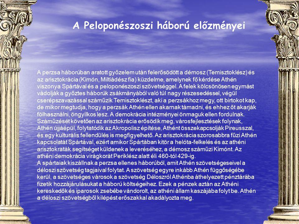 A Peloponészoszi háború előzményei