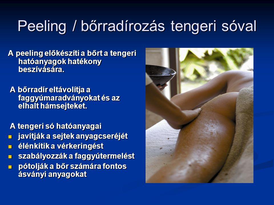 Peeling / bőrradírozás tengeri sóval