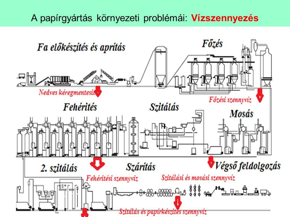 A papírgyártás környezeti problémái: Vízszennyezés