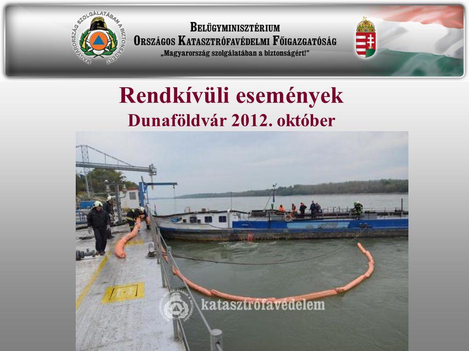 Rendkívüli események Dunaföldvár 2012. október
