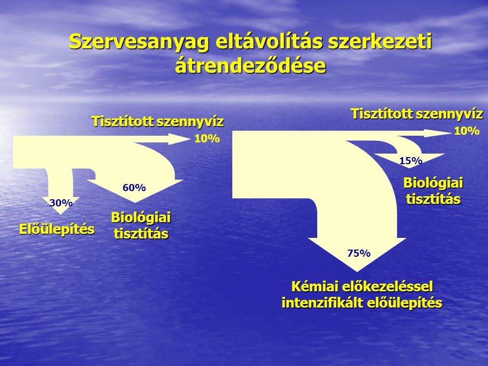 Szervesanyag eltávolítás szerkezeti átrendeződése