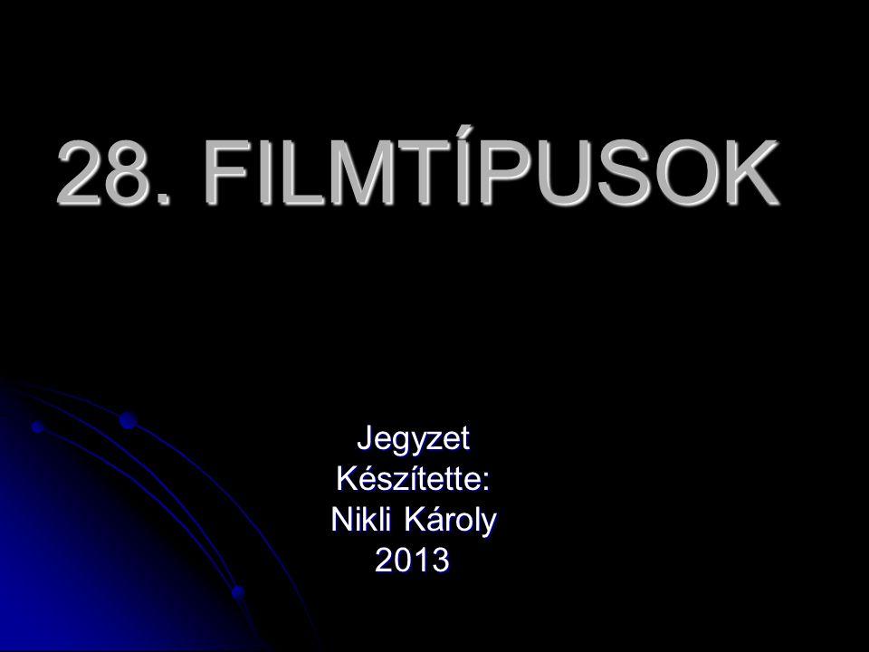 Jegyzet Készítette: Nikli Károly 2013
