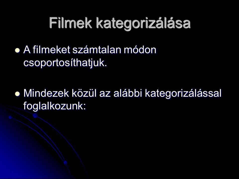 Filmek kategorizálása
