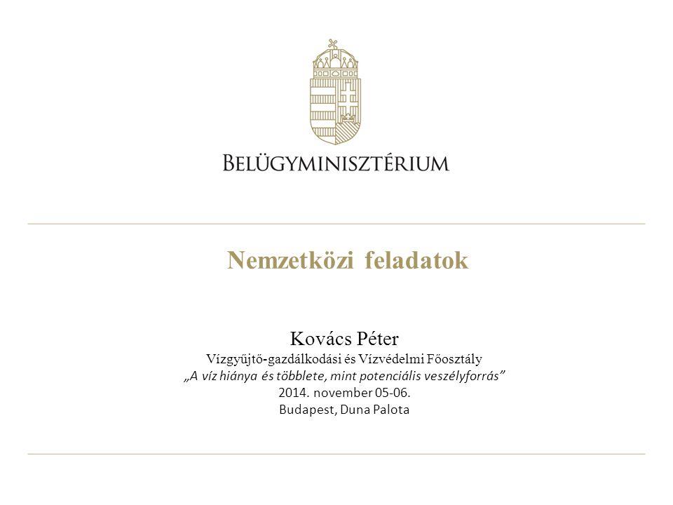 Nemzetközi feladatok Kovács Péter