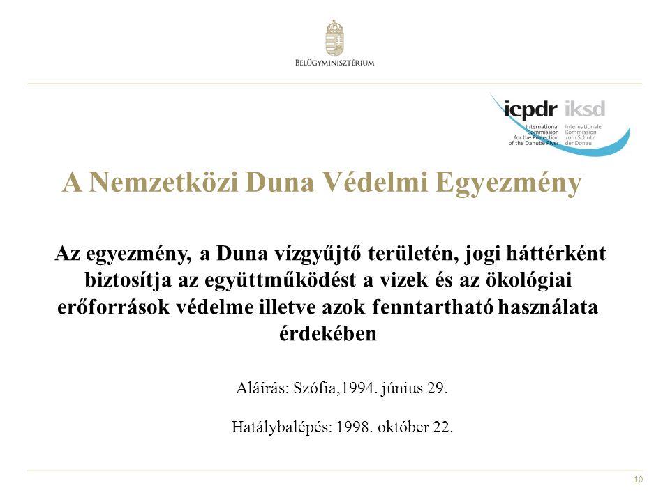 A Nemzetközi Duna Védelmi Egyezmény