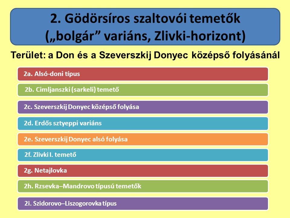 """2. Gödörsíros szaltovói temetők (""""bolgár variáns, Zlivki-horizont)"""