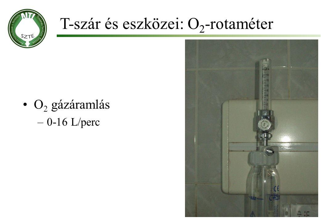 T-szár és eszközei: O2-rotaméter