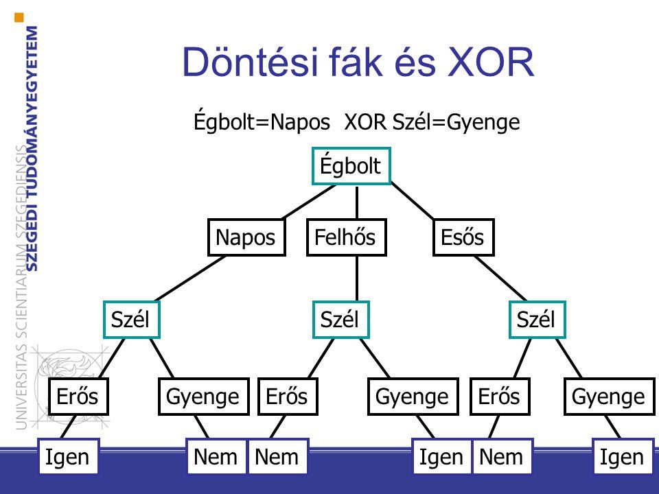 Döntési fák a döntési fák konjunkciók diszjunkcióját reprezentálják