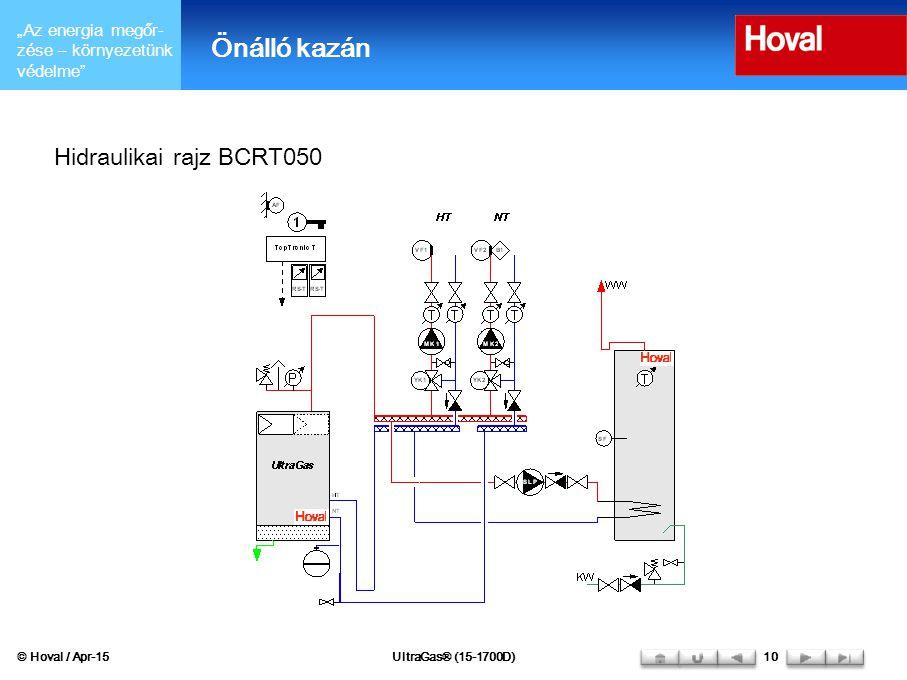 Önálló kazán Hidraulikai rajz BCRT050 © Hoval / Apr-17
