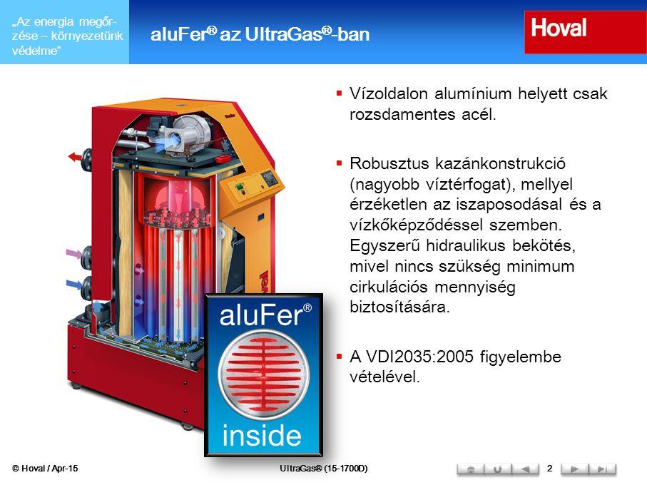aluFer® az UltraGas®-ban