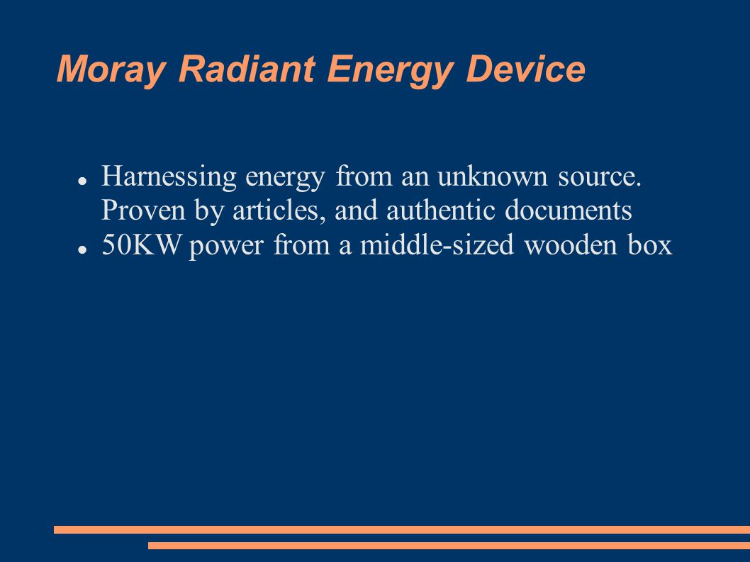 Moray Radiant Energy Device