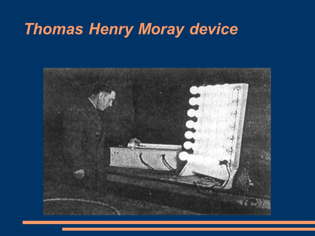 Thomas Henry Moray device