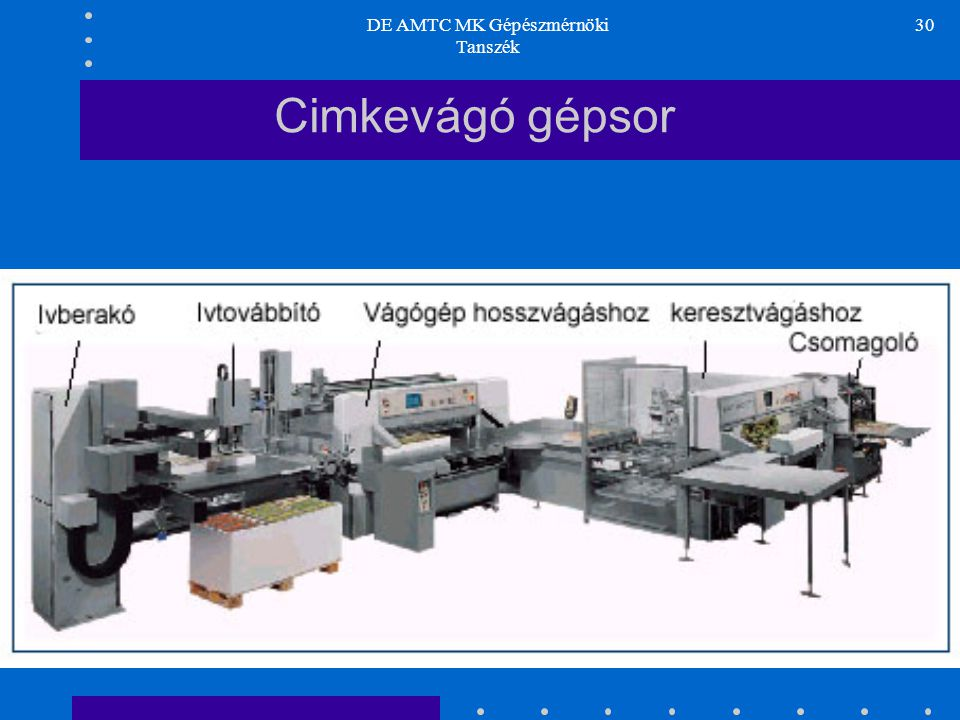 DE AMTC Műszaki Kar, Gépészmérnöki Tanszék