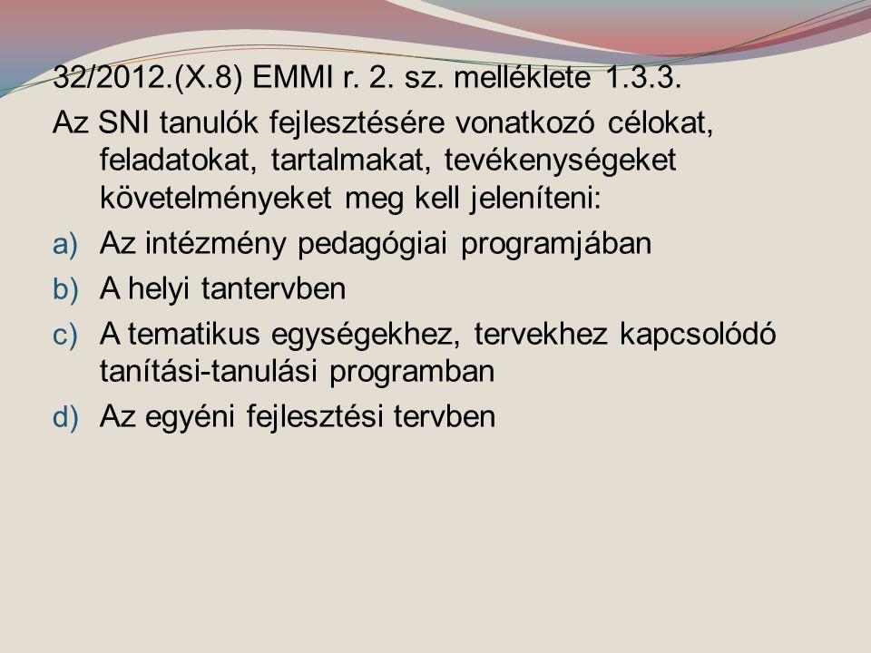 32/2012.(X.8) EMMI r. 2. sz. melléklete 1.3.3.