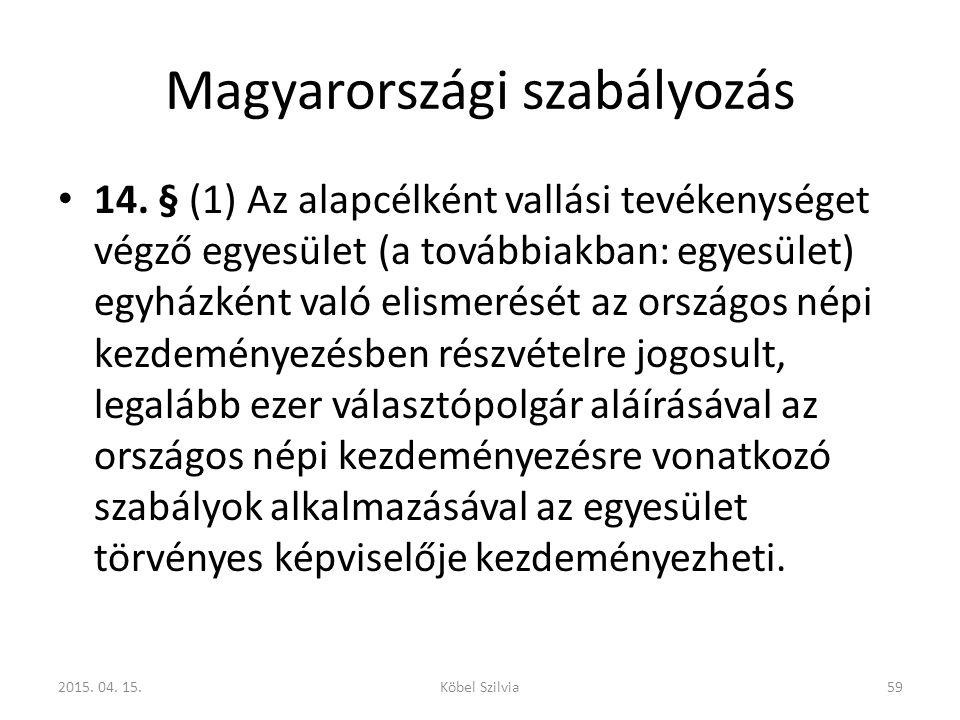 Magyarországi szabályozás