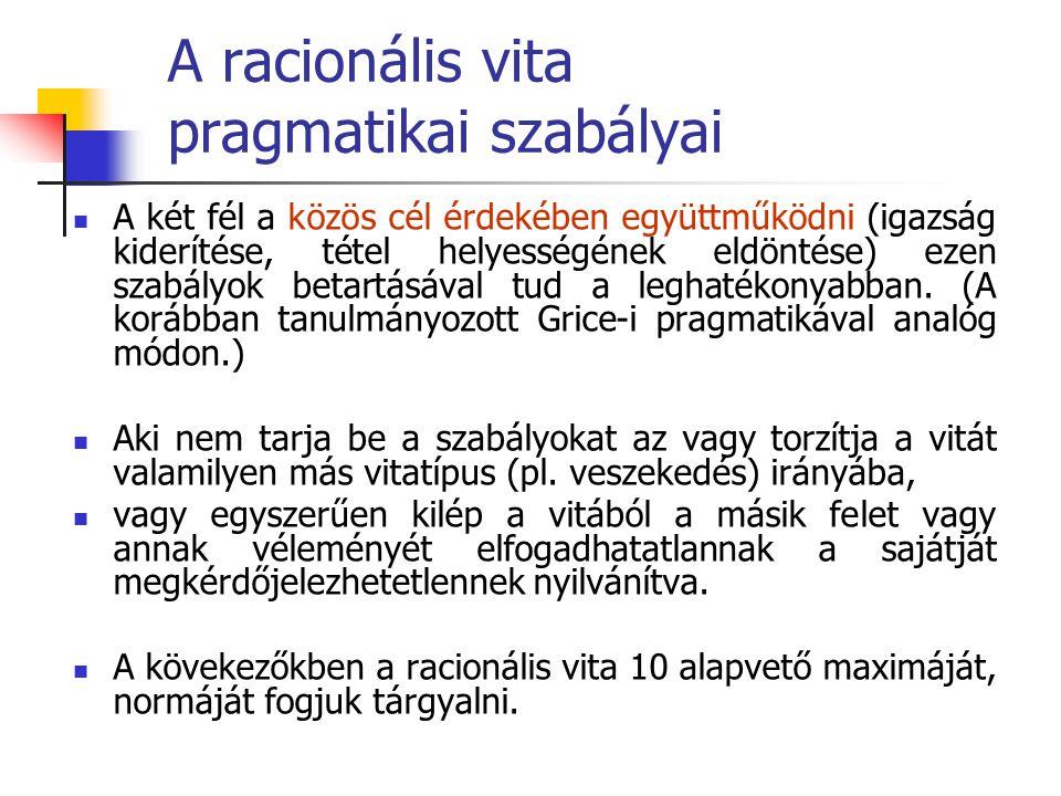 A racionális vita pragmatikai szabályai