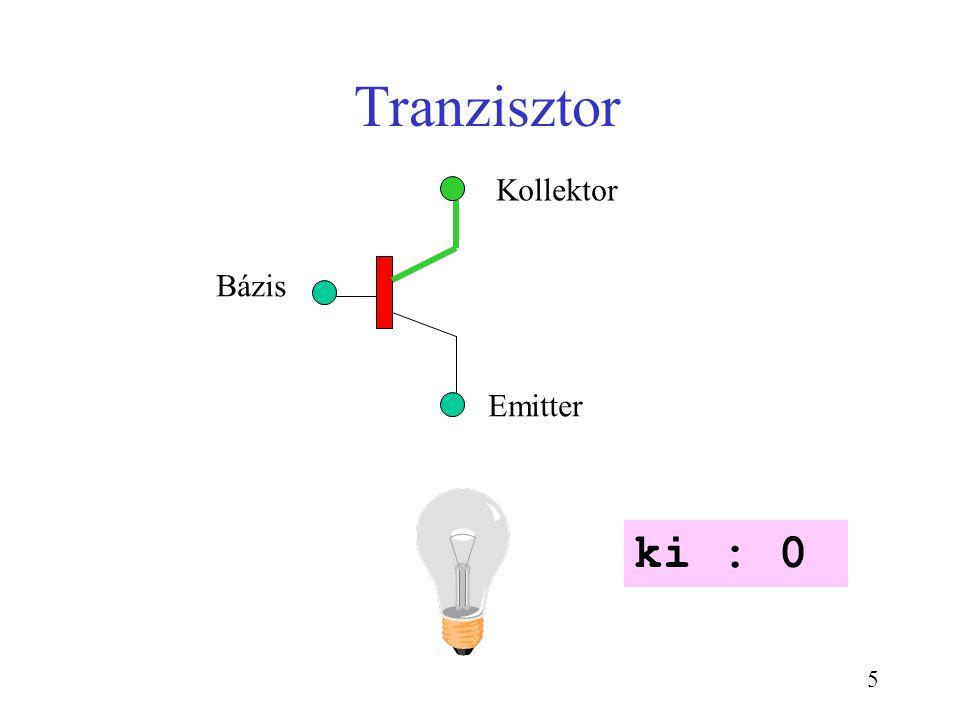 Tranzisztor ki : 0 Kollektor Bázis Emitter CSE1301 Sem 2-2003