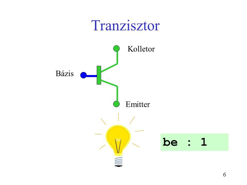 Tranzisztor be : 1 Kolletor Bázis Emitter CSE1301 Sem 2-2003