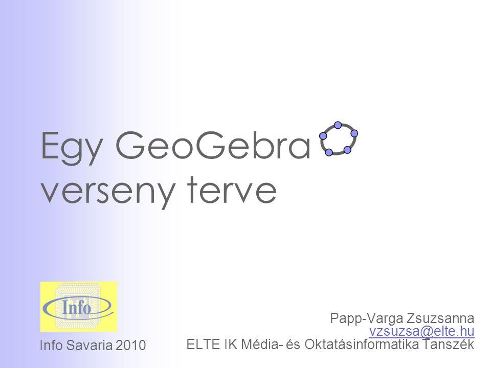 Egy GeoGebra verseny terve