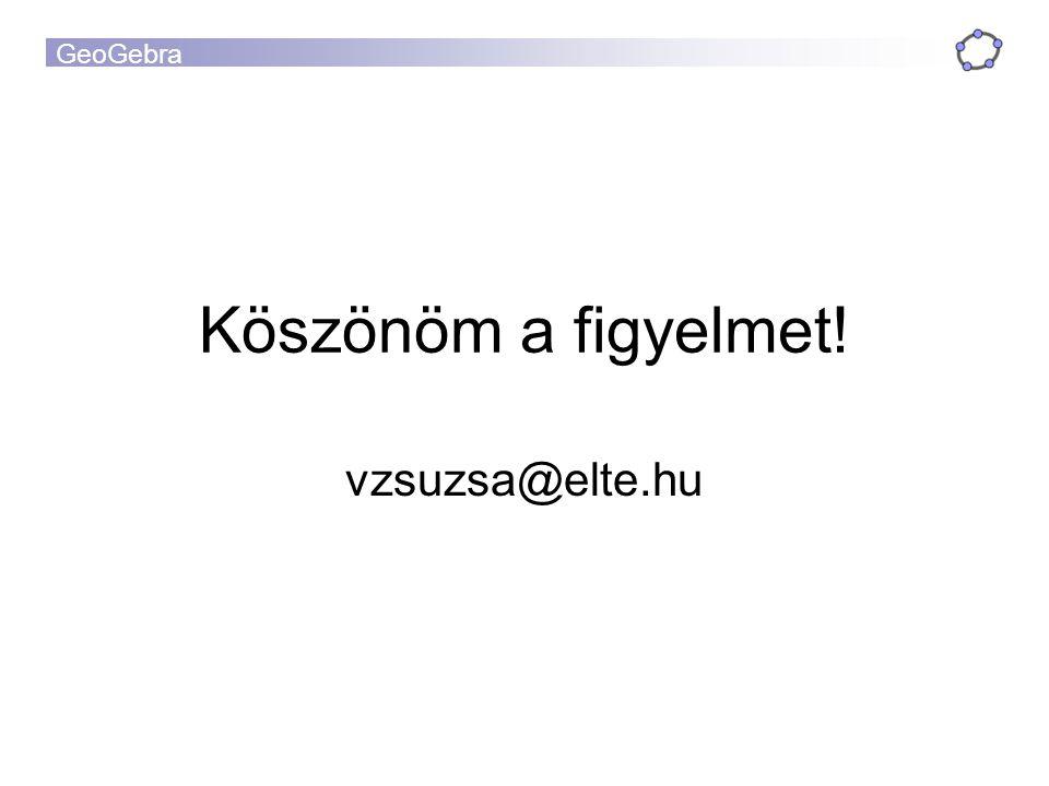 Köszönöm a figyelmet! vzsuzsa@elte.hu
