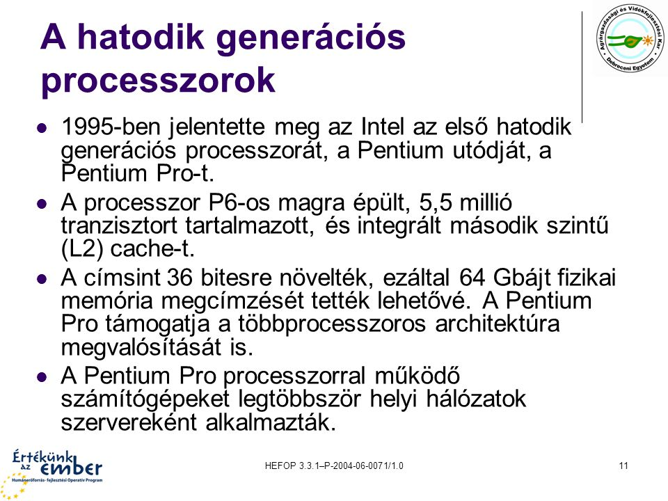 A hatodik generációs processzorok
