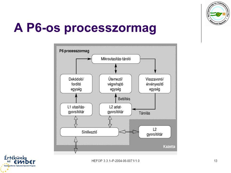 A P6-os processzormag HEFOP 3.3.1–P-2004-06-0071/1.0