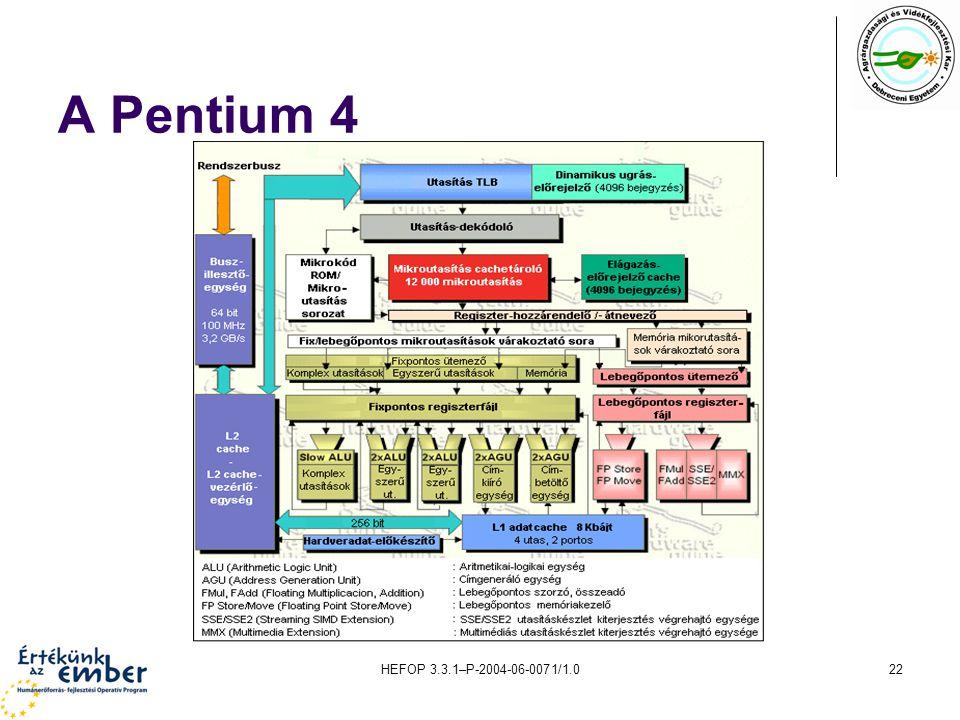 A Pentium 4 HEFOP 3.3.1–P-2004-06-0071/1.0