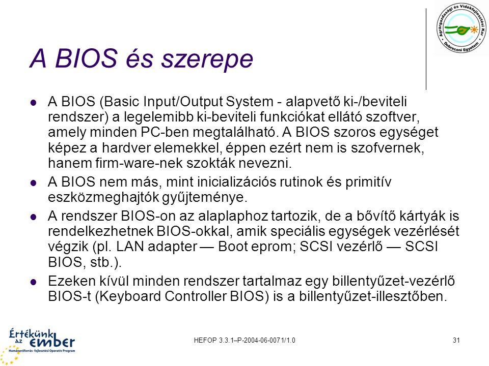 A BIOS és szerepe
