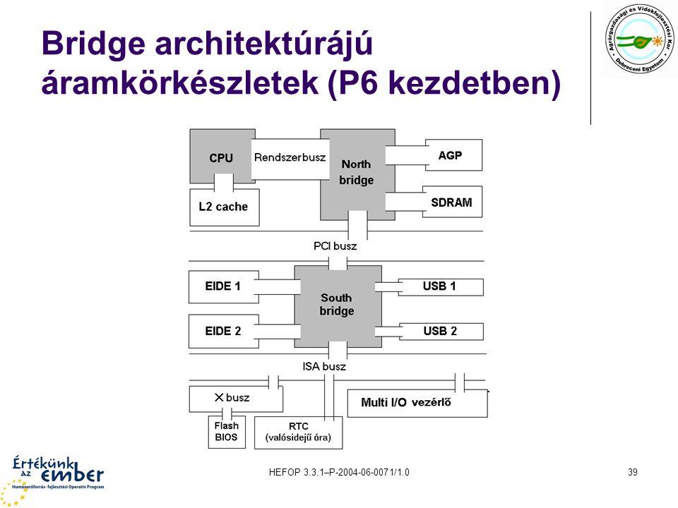 Bridge architektúrájú áramkörkészletek (P6 kezdetben)
