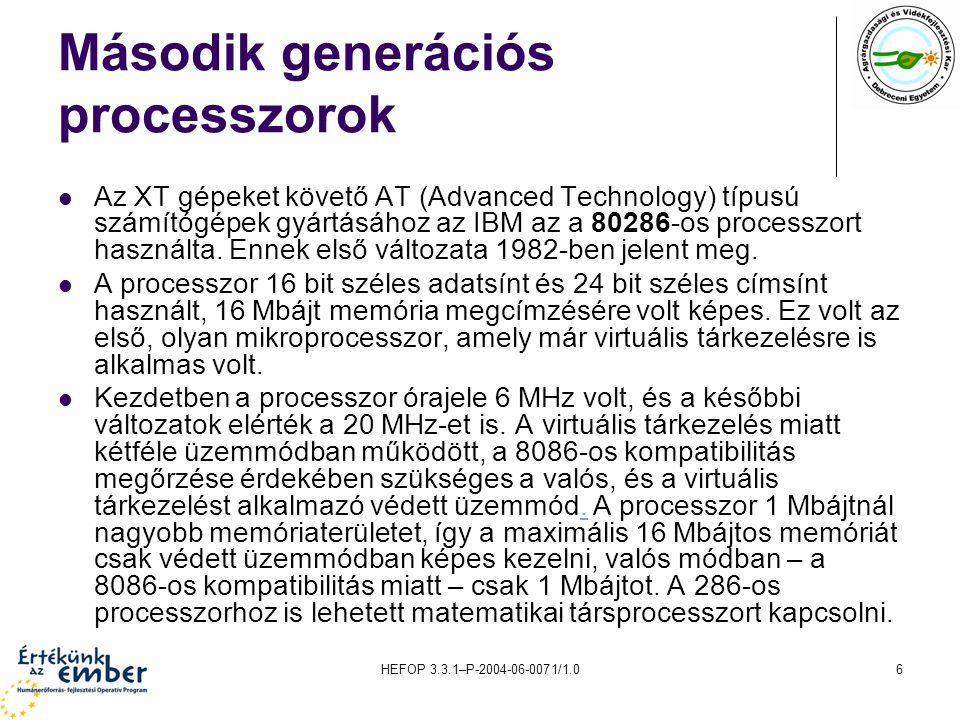 Második generációs processzorok