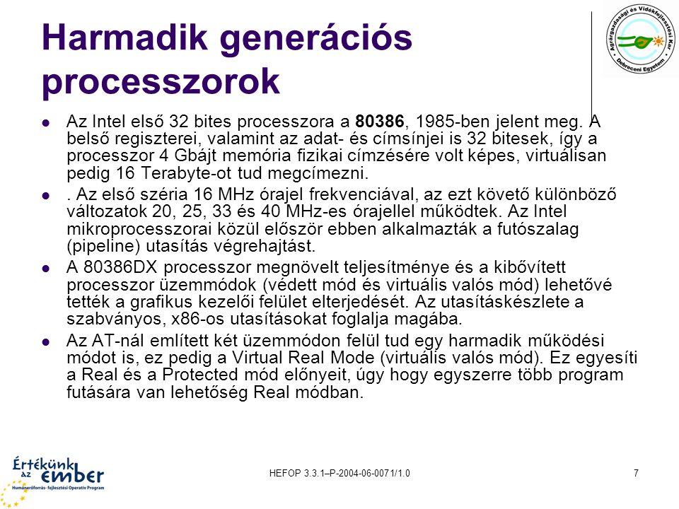 Harmadik generációs processzorok