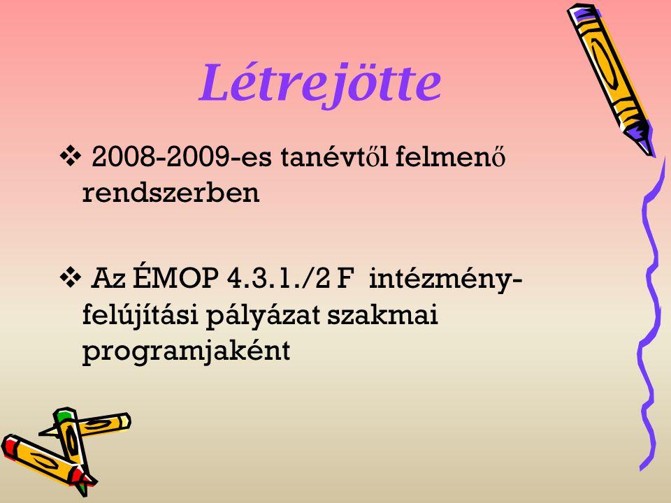 Létrejötte 2008-2009-es tanévtől felmenő rendszerben