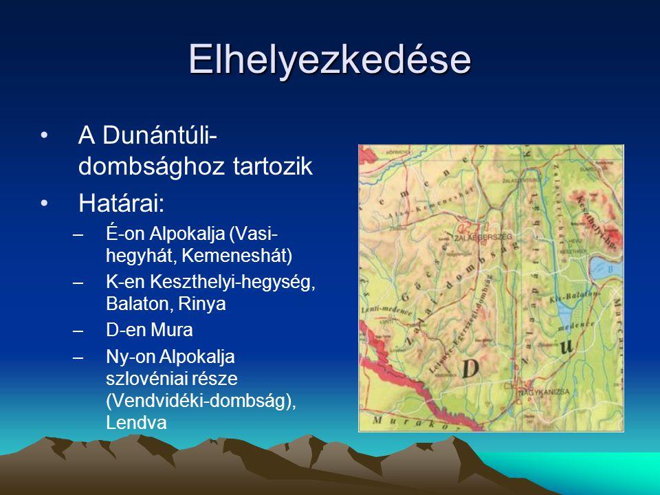 Elhelyezkedése A Dunántúli-dombsághoz tartozik Határai: