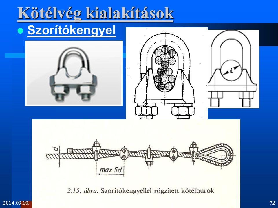 Kötélvég kialakítások