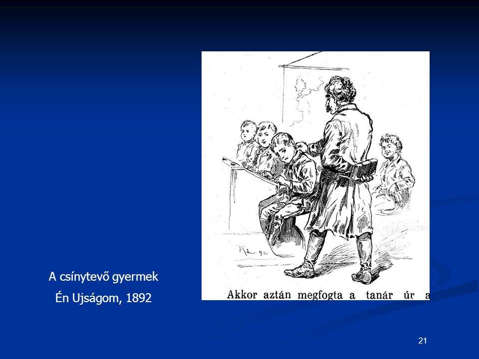 A csínytevő gyermek Én Ujságom, 1892