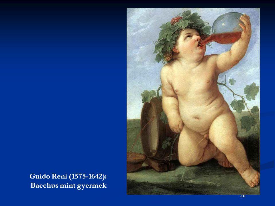 Guido Reni (1575-1642): Bacchus mint gyermek