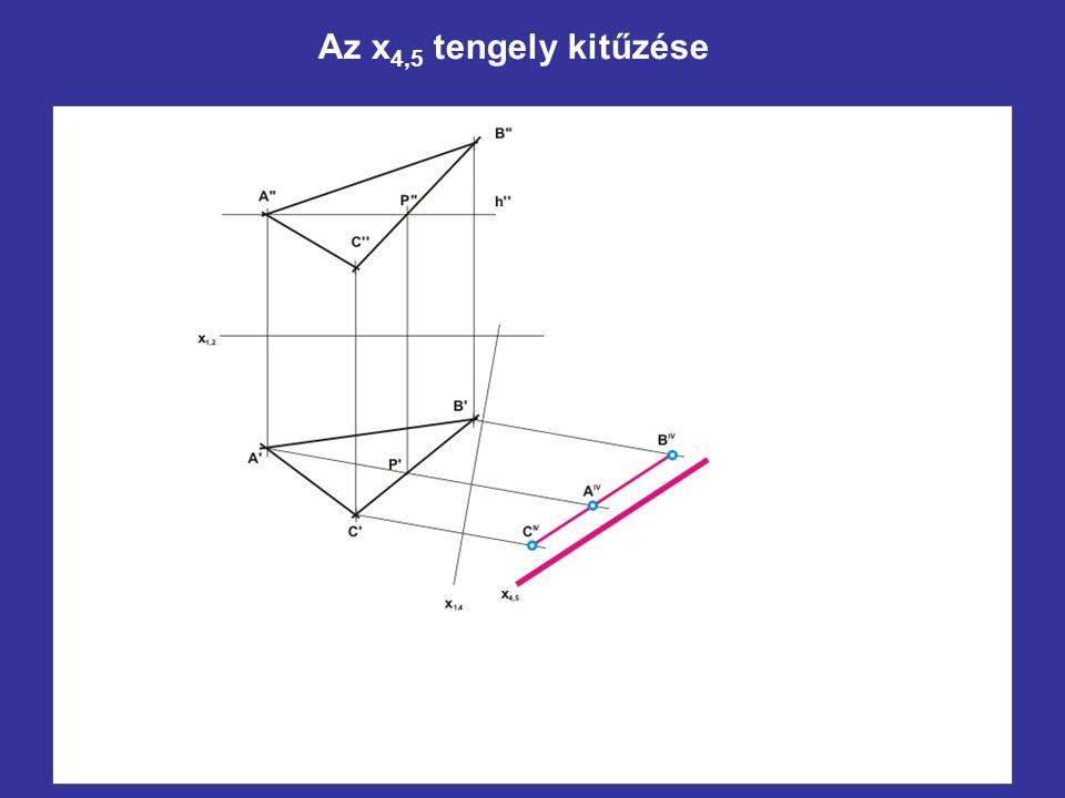 Az x4,5 tengely kitűzése