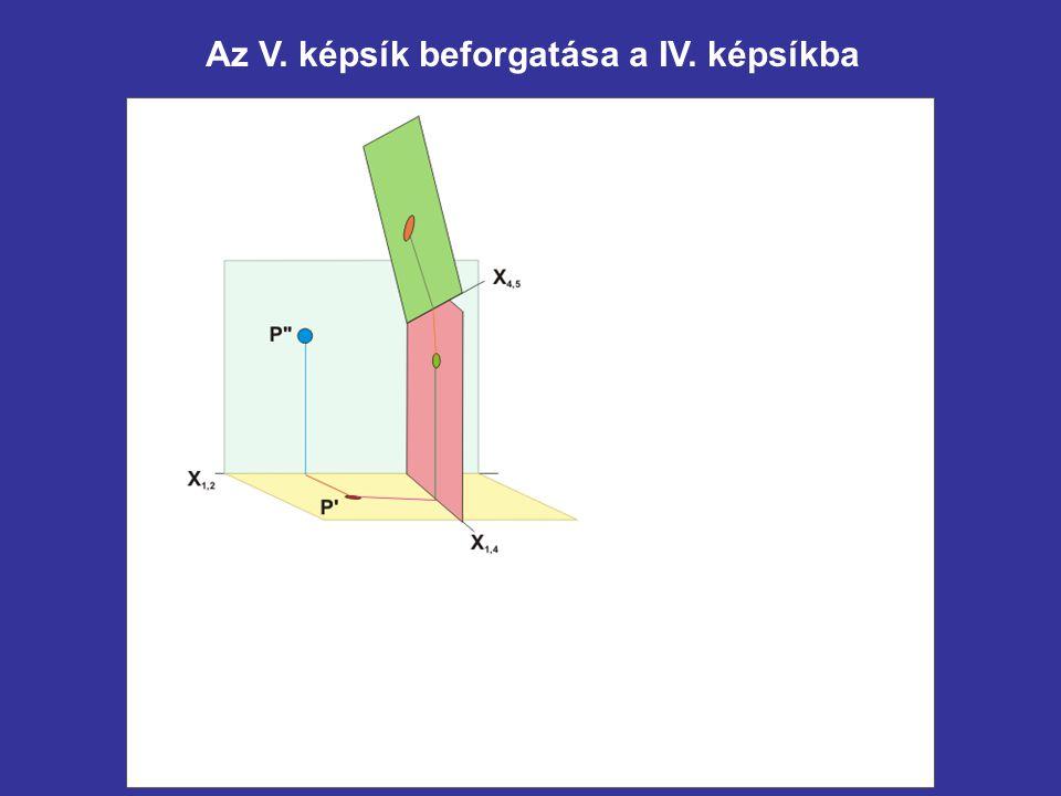 Az V. képsík beforgatása a IV. képsíkba