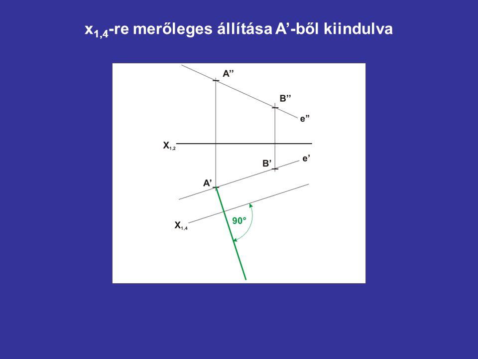 x1,4-re merőleges állítása A'-ből kiindulva