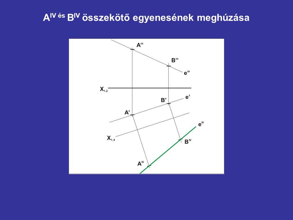 AIV és BIV összekötő egyenesének meghúzása