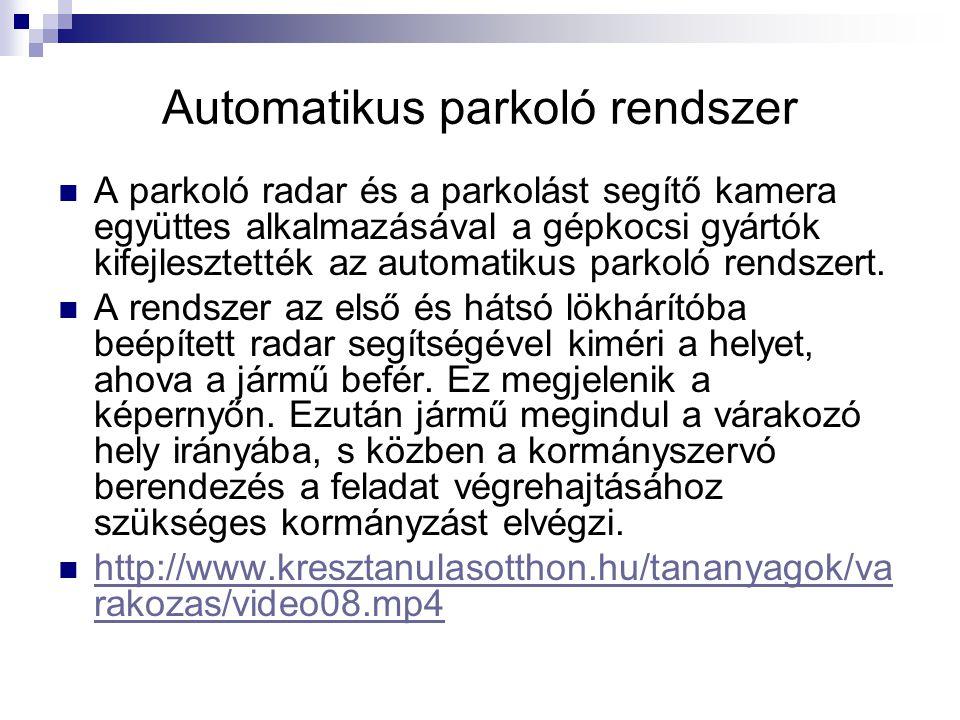 Automatikus parkoló rendszer